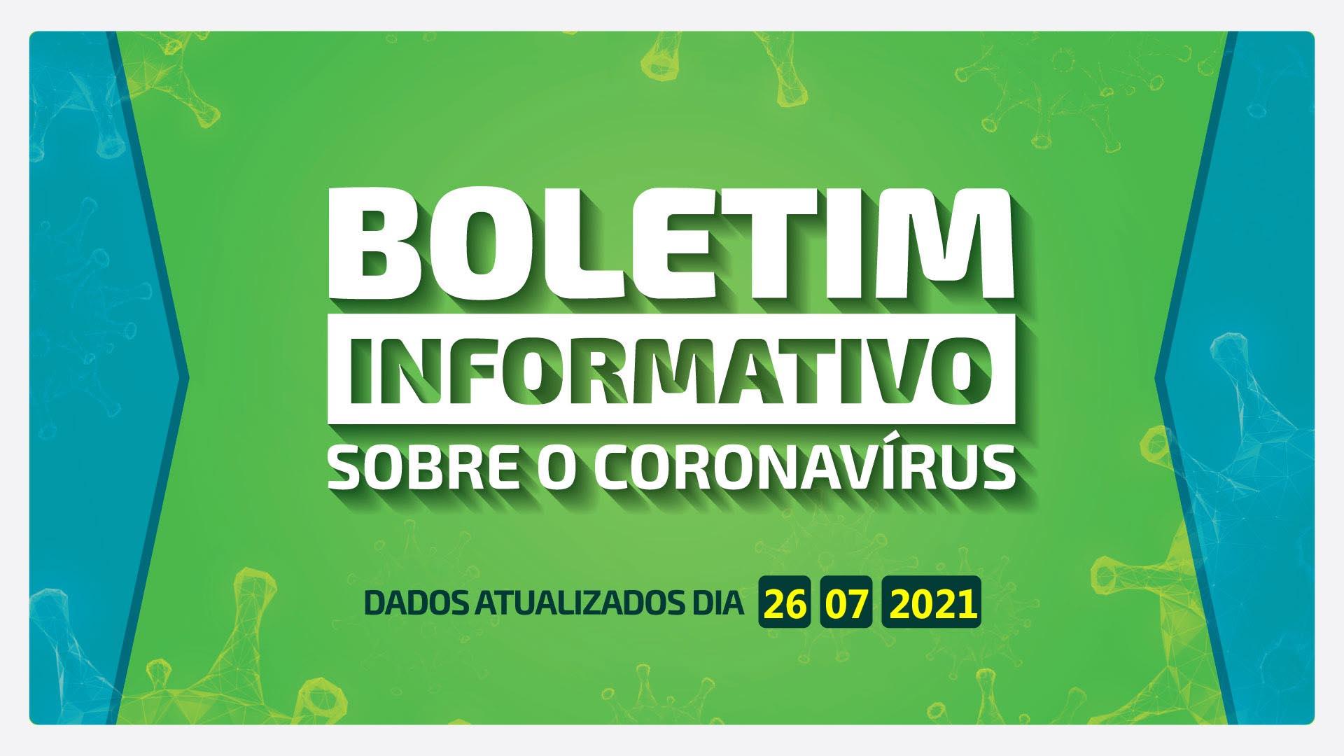 BOLETM DIÁRIO DA COVID-19 EM BARRA BONITA - 26 DE JULHO DE 2021