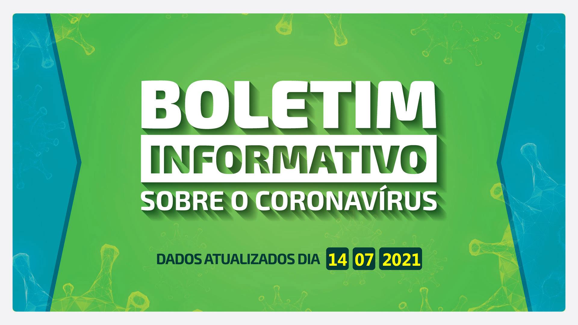 BOLETM DIÁRIO DA COVID-19 EM BARRA BONITA - 14 DE JULHO DE 2021