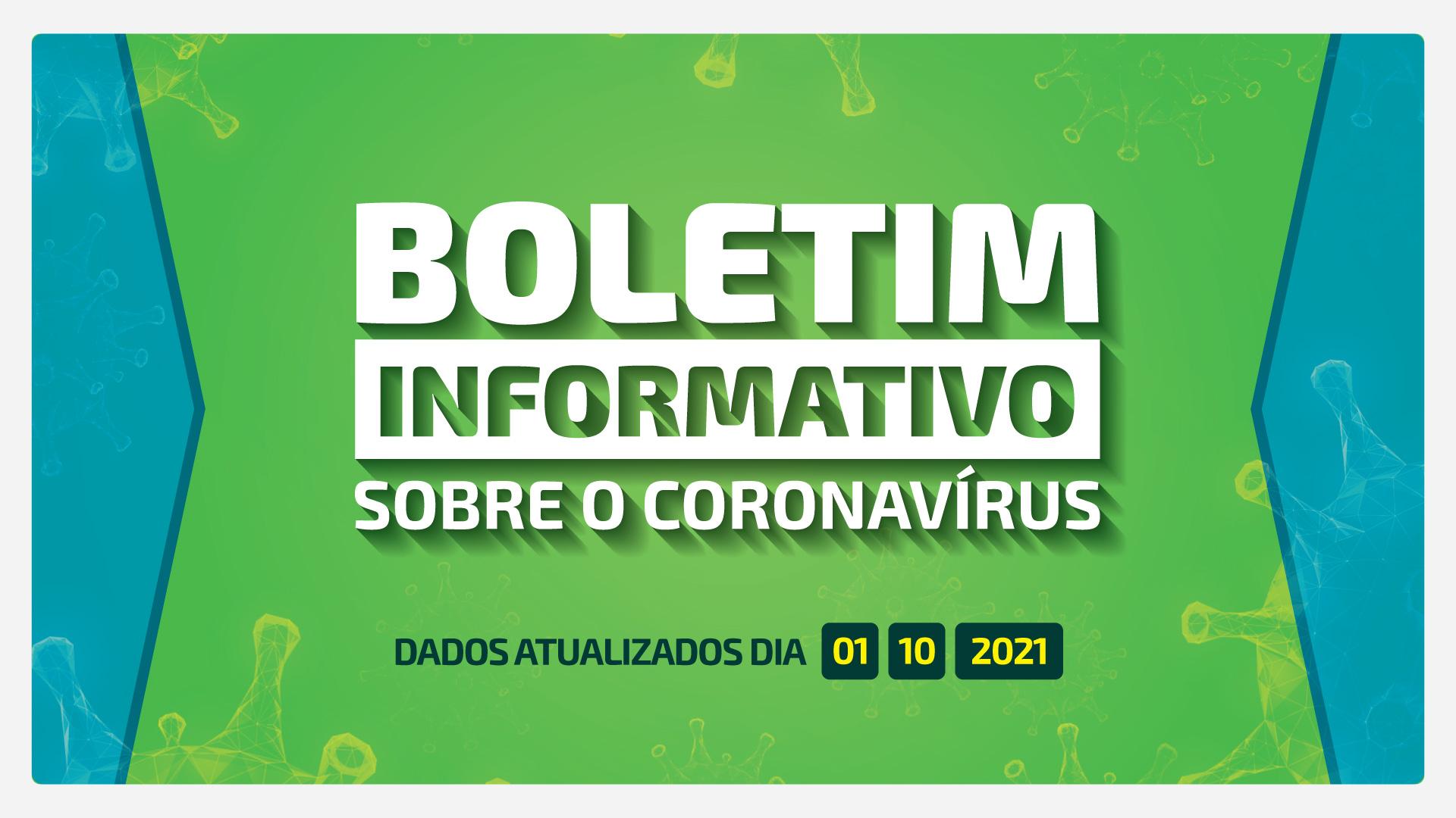 BOLETIM DIÁRIO DA COVID-19 EM BARRA BONITA - 01 DE OUTUBRO DE 2021
