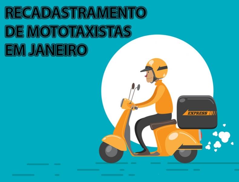 MOTOTAXISTAS DEVEM FAZER RECADASTRAMENTO EM JANEIRO