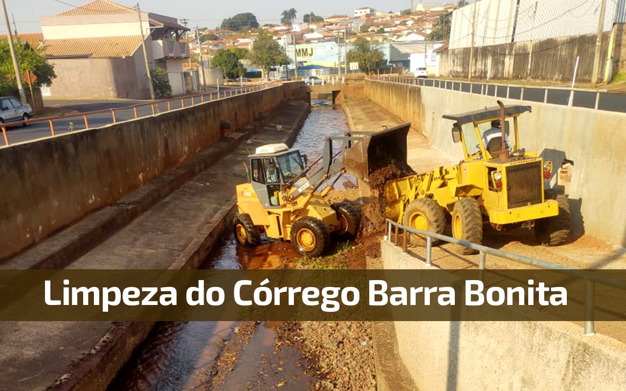 LIMPEZA E MANUTENÇÃO NO CÓRREGO BARRA BONITA